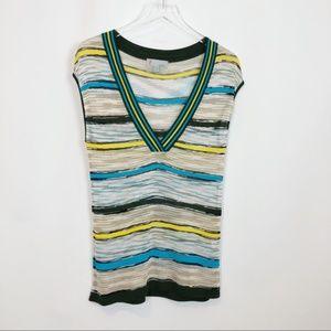 Missoni Contrast Vintage Stripe V-Neck Top 8